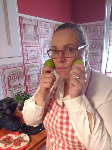 Andrea avec citrons